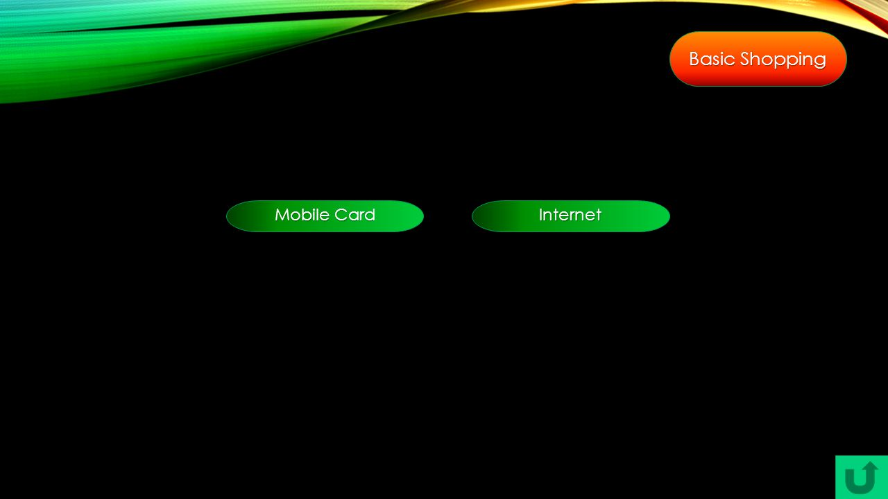 Basic Shopping Mobile Card Mobile Card Internet