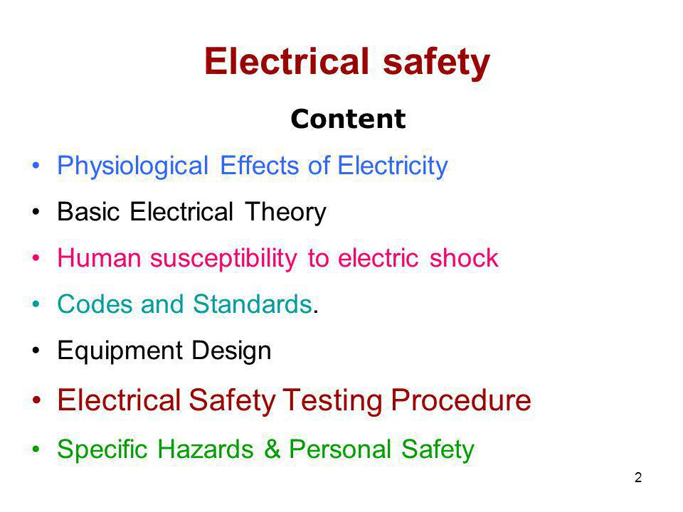 3 Introduction Everyone should have some knowledge of the every day source of energy known as electricity Everyone should also know about the potential hazards & how to avoid them