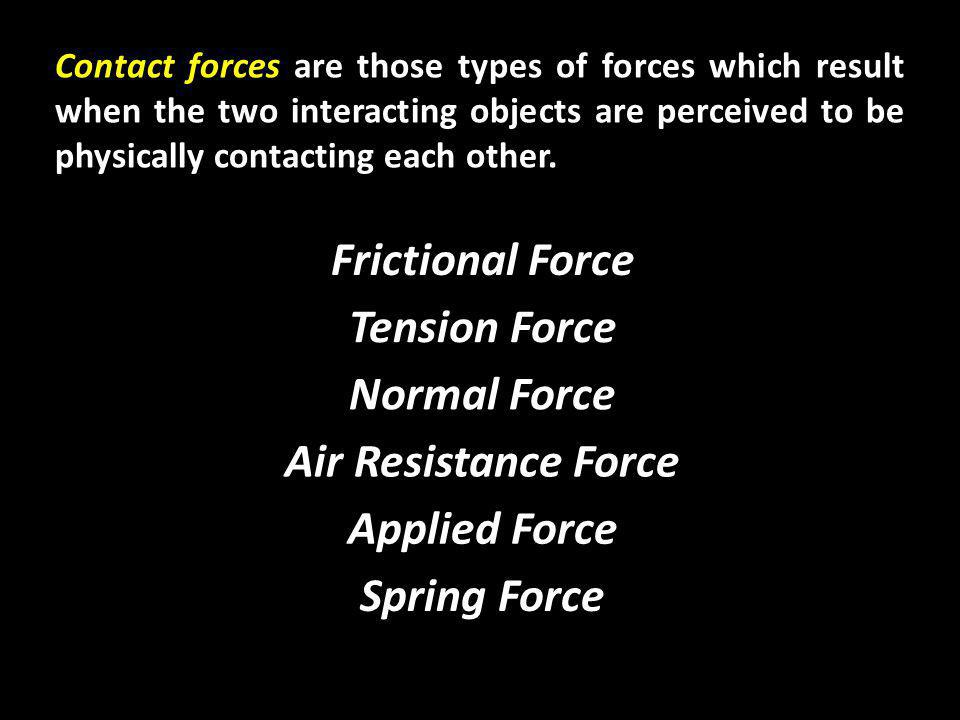 Action-at-a-distance forces are those types of forces which result even when the two interacting objects are not in physical contact with each other, yet are able to exert a push or pull despite their physical separation.