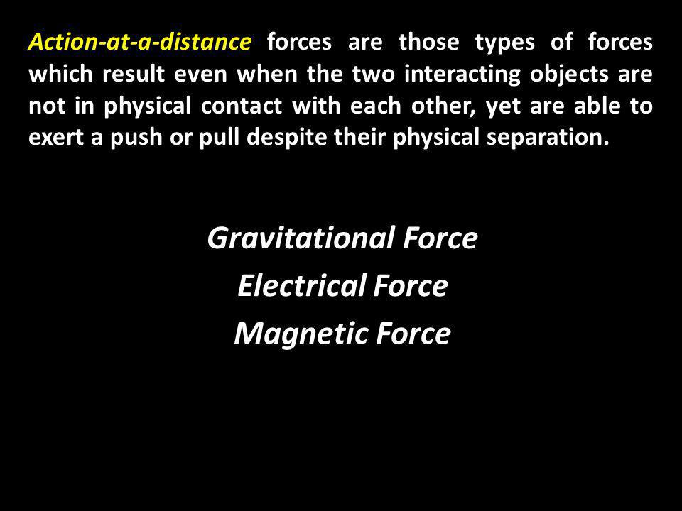 Applied Force (F app ) An applied force is a force which is applied to an object by a person or another object Applied Force
