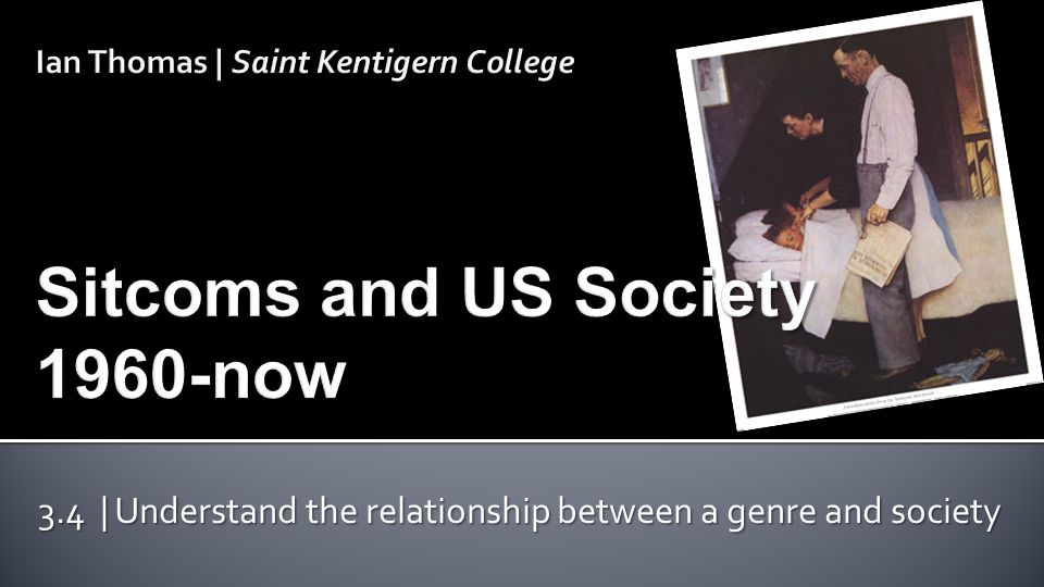 3.4 | Understand the relationship between a genre and society