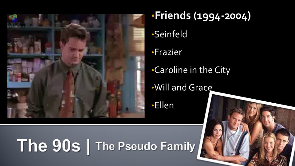 Friends (1994-2004) Seinfeld Frazier Caroline in the City Will and Grace Ellen