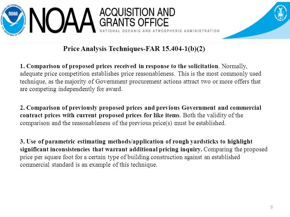 Price Analysis Techniques-FAR 15.404-1(b)(2) 1.