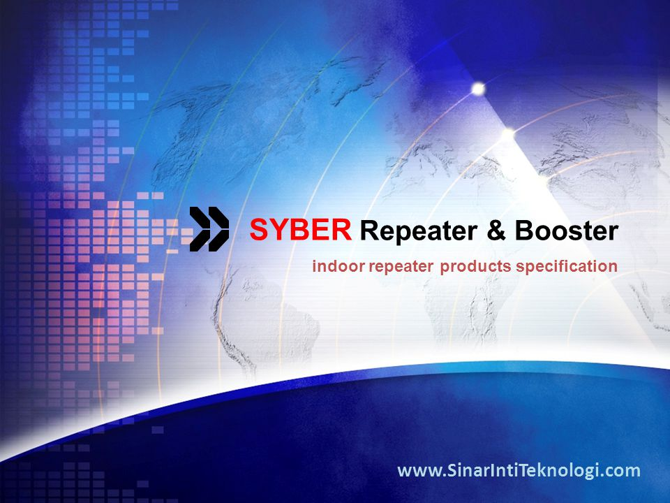 SYBER Repeater & Booster indoor repeater products specification www.SinarIntiTeknologi.com