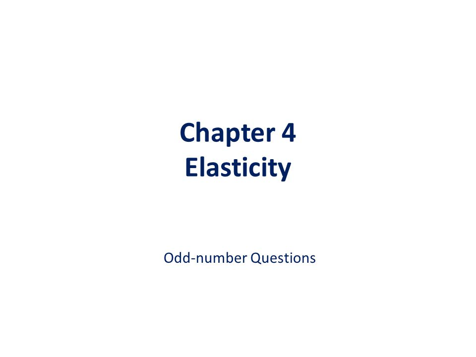 Solution to Problem #7 (3) When a price elasticity of supply is less than one, that means percentage change in quantity supplied is less than percentage change in price – If this is the case, we regard the weakly responsive supply as INELASTIC When a price elasticity of supply is exactly equal to one, that means percentage change in quantity supplied is the same as percentage change in price – If this is the case, we regard the mirror-responsive supply as UNITARY ELASTIC