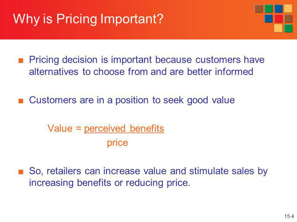 15-35 Price Adjustments Retailers adjust prices over time (markdowns) and for different customer segments (variable pricing) Why do retailers take markdowns.