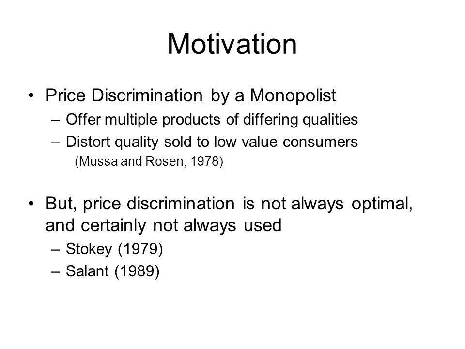 Research Agenda Develop prescriptive tools to evaluate when price discrimination is profitable.