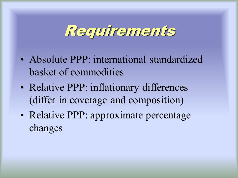 a long-run exchange rate model based on PPP the monetary approach to the exchange rate how exchange rates and monetary factors interact in the long run long rundoes not allow for the price rigidities the monetary approach proceeds as if prices can adjust right away to maintain full employment as well as PPP.