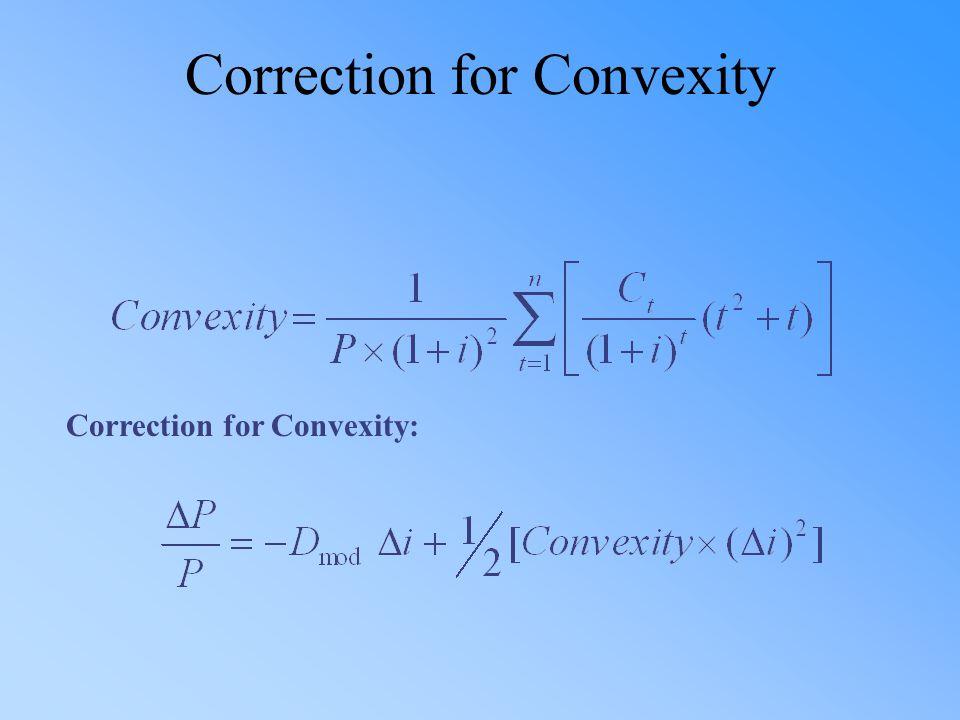Correction for Convexity Correction for Convexity: