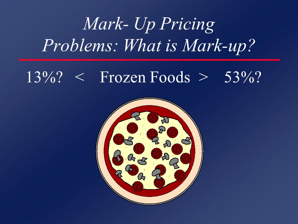 Mark- Up Pricing Problems: What is Mark-up? 13%? 53%?