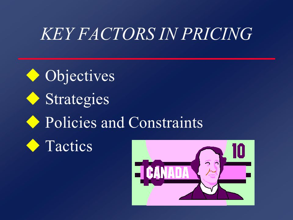 PRICING OBJECTIVES u Cost u Demand u Competition