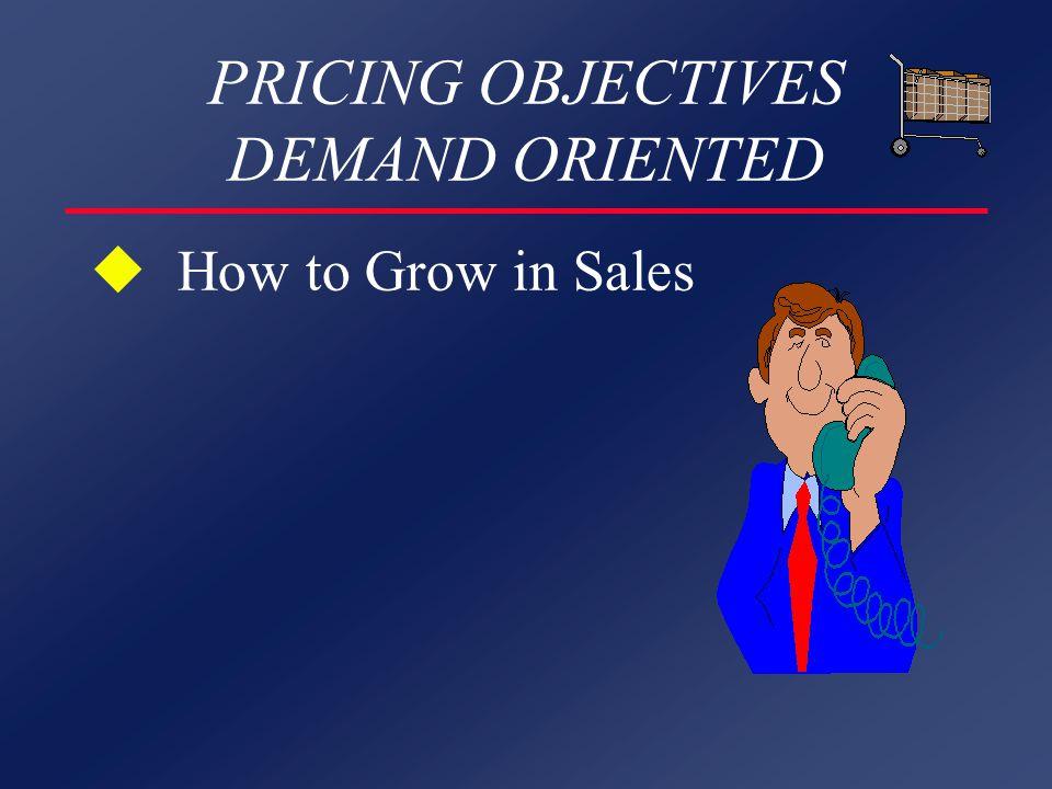 Marketing Mix Combinations Just One: Price and Quality P High MediumLow Q HighP remium Penetration Big Bargain Medium Overpriced AverageBargain Low Hit & Run ShoddyCheap