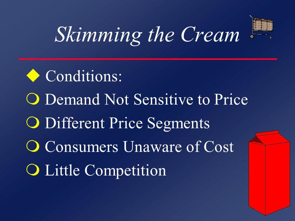 PRICING STRATEGIES u Cost u Demand u Competition