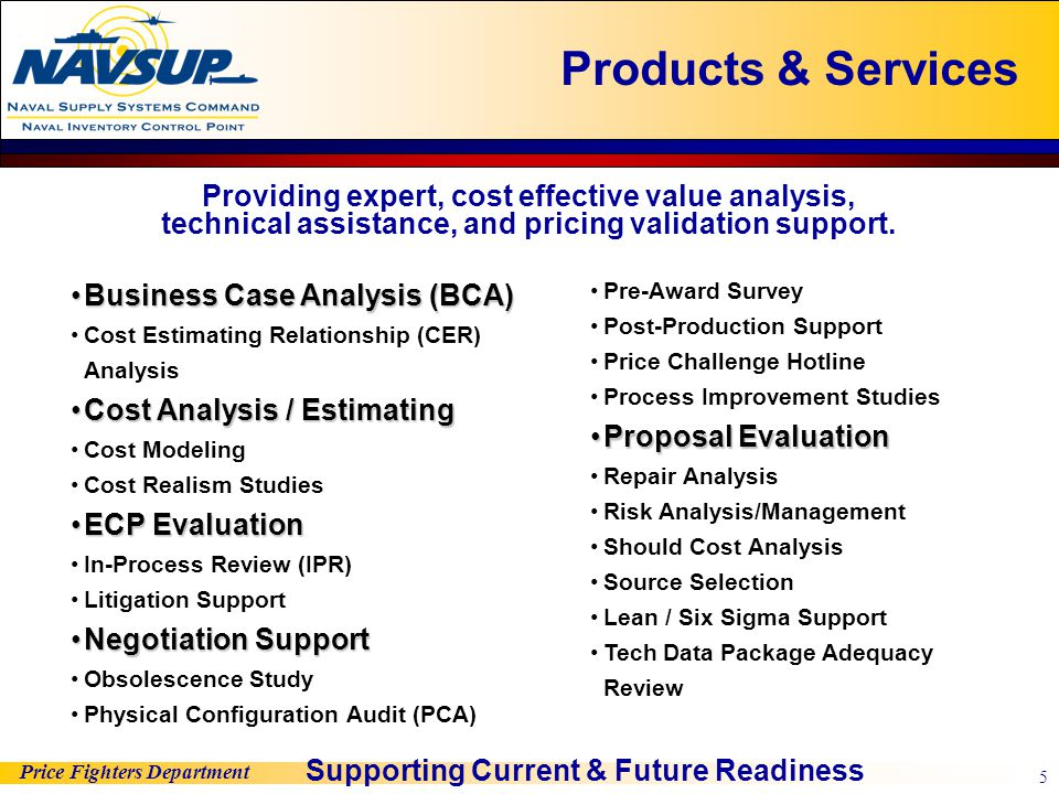 Price Fighters Department 5 Business Case Analysis (BCA)Business Case Analysis (BCA) Cost Estimating Relationship (CER) Analysis Cost Analysis / Estim