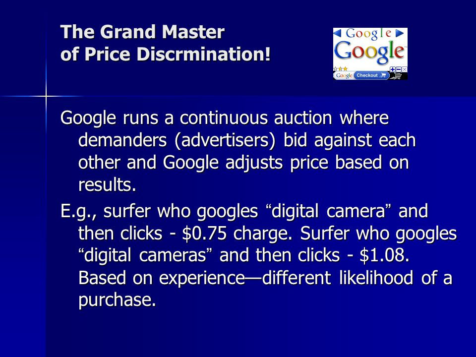 The Grand Master of Price Discrmination.