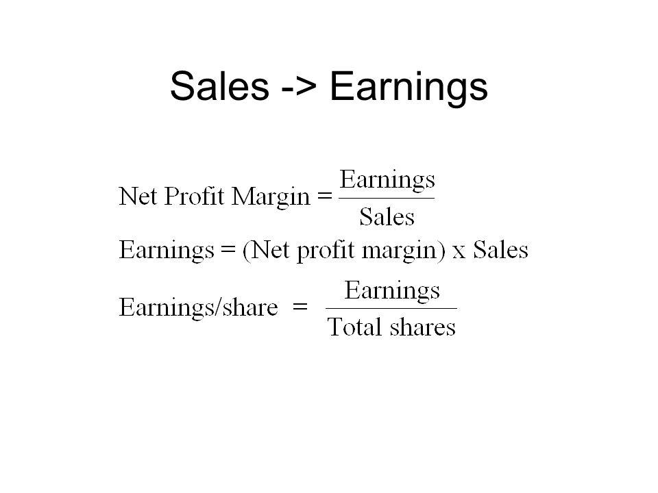 Sales -> Earnings