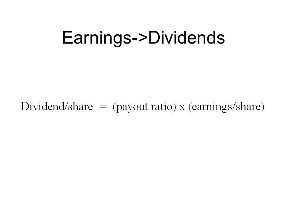 Earnings->Dividends