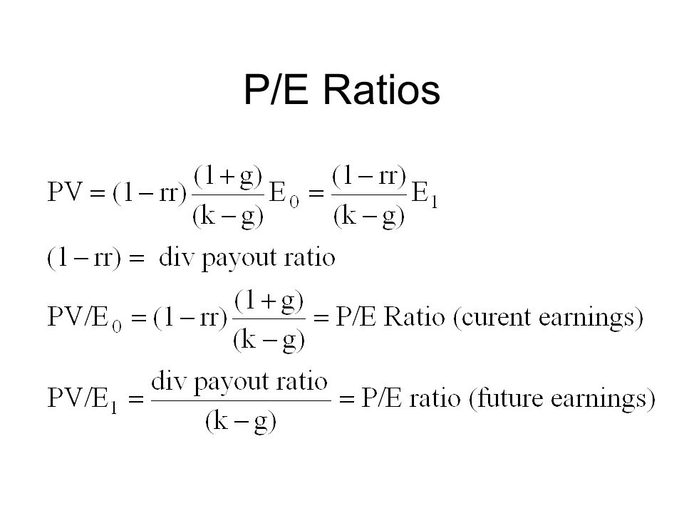 P/E Ratios