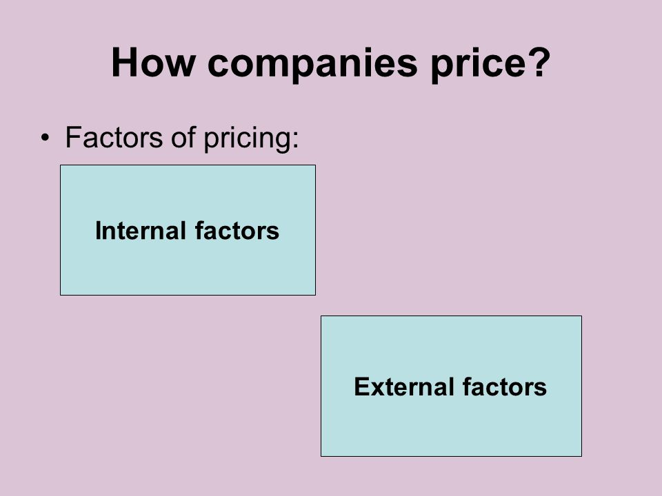 Perception of price Reference prices: comparing an observed price to an internal reference price which customers remember or to an external frame of reference such as a posted regular retail price.