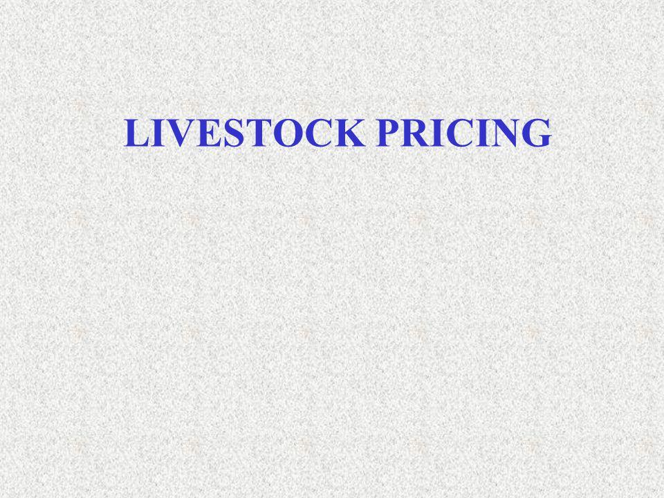 LIVESTOCK PRICING