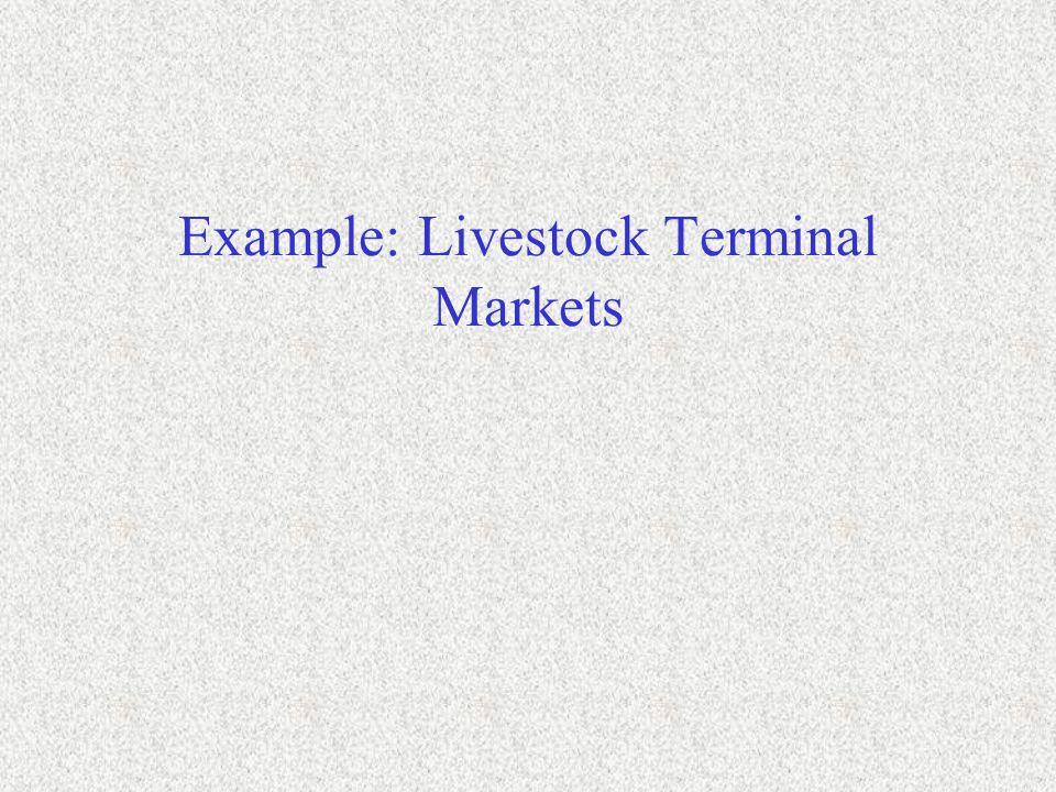 Example: Livestock Terminal Markets