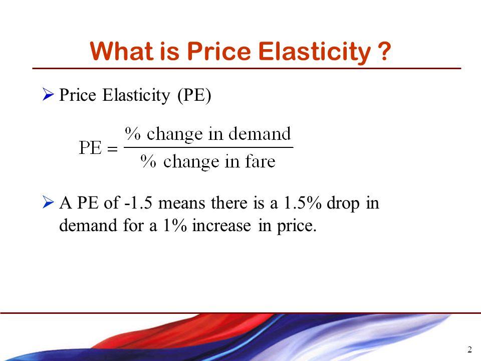 2 What is Price Elasticity .