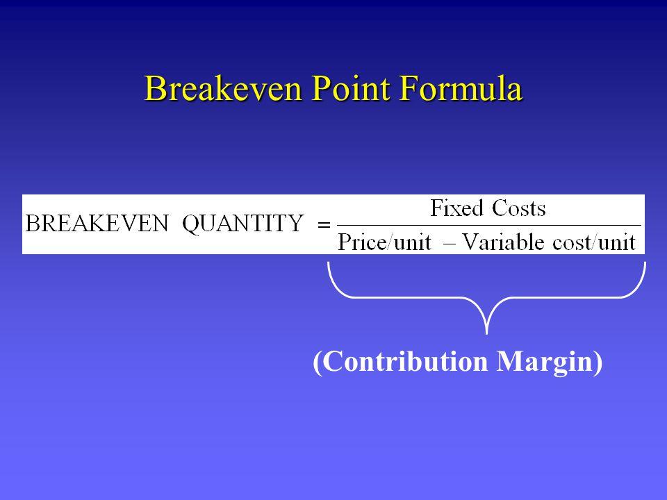 Breakeven Point Formula (Contribution Margin)