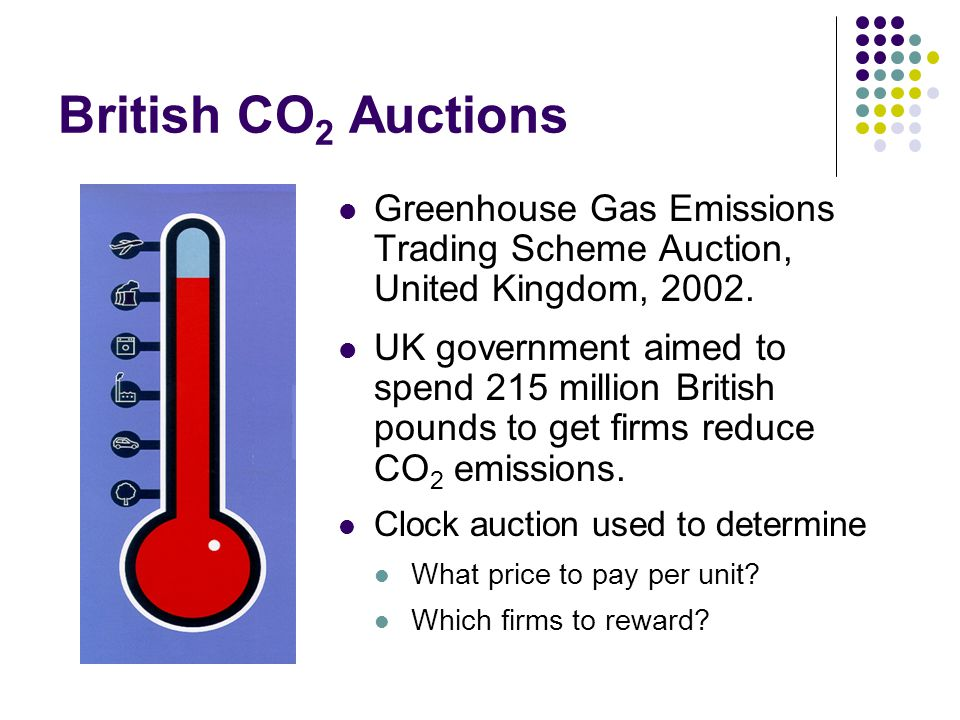 British CO 2 Auctions Greenhouse Gas Emissions Trading Scheme Auction, United Kingdom, 2002.