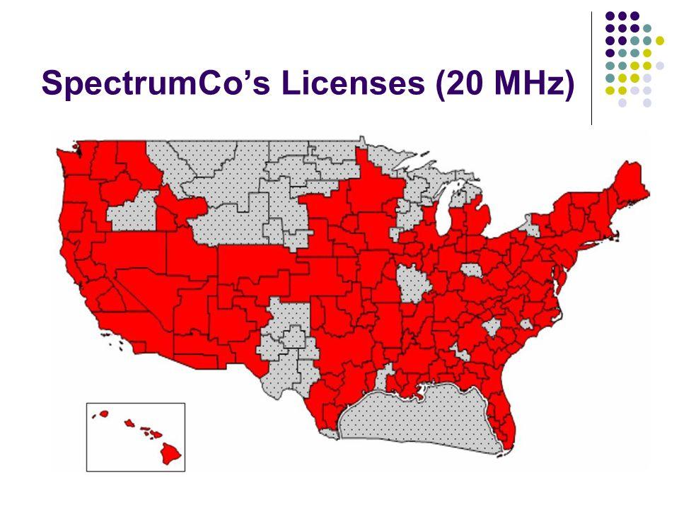 SpectrumCos Licenses (20 MHz)