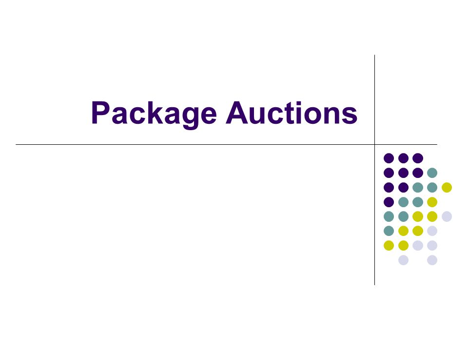 Package Auctions
