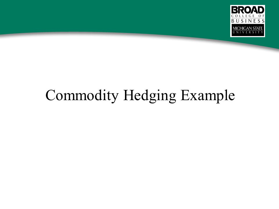 Commodity Hedging Example