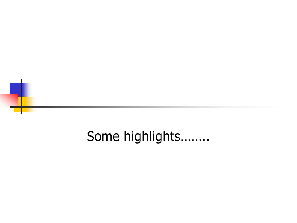 Some highlights……..