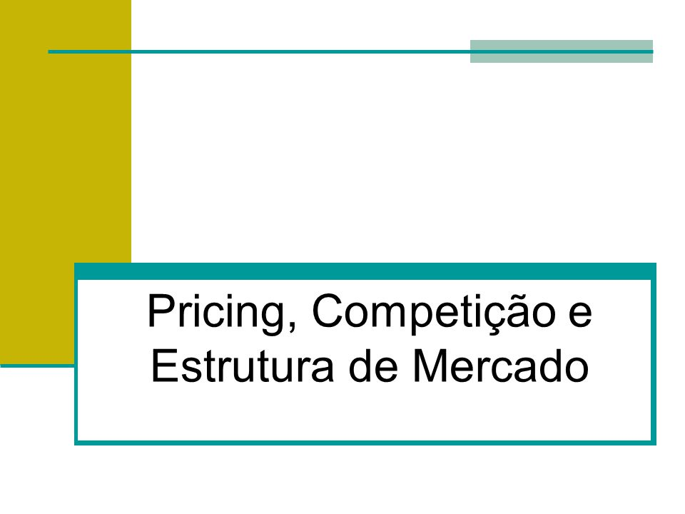 Luiz Afonso dos Santos Senna - PhD Predatory Pricing The practice of charging a very low price for a product with the intent of driving competitors out of business or out of a market.