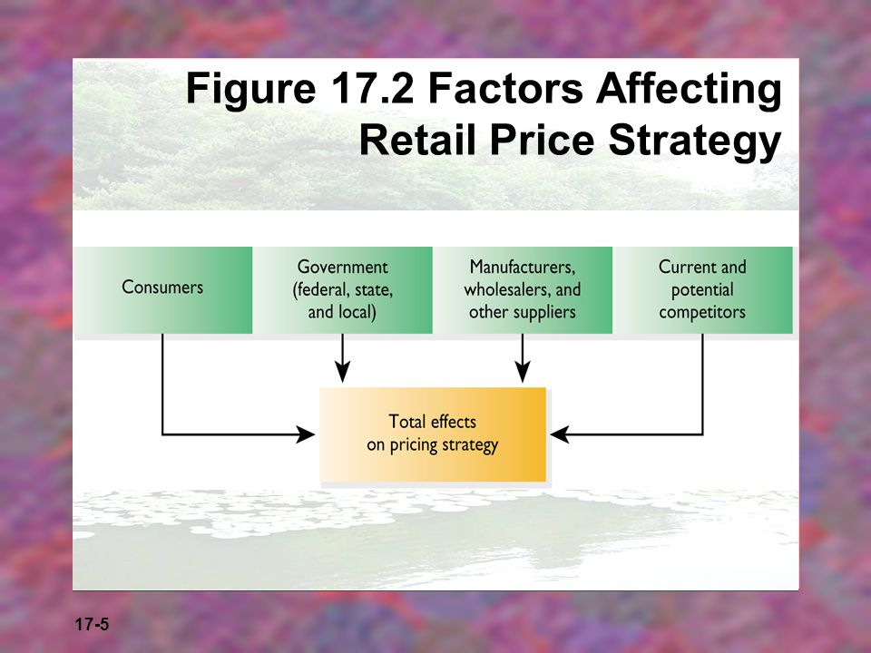 17-5 Figure 17.2 Factors Affecting Retail Price Strategy