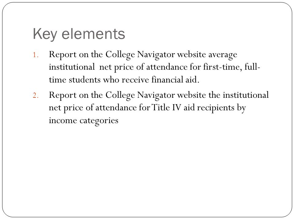 Key elements 3.