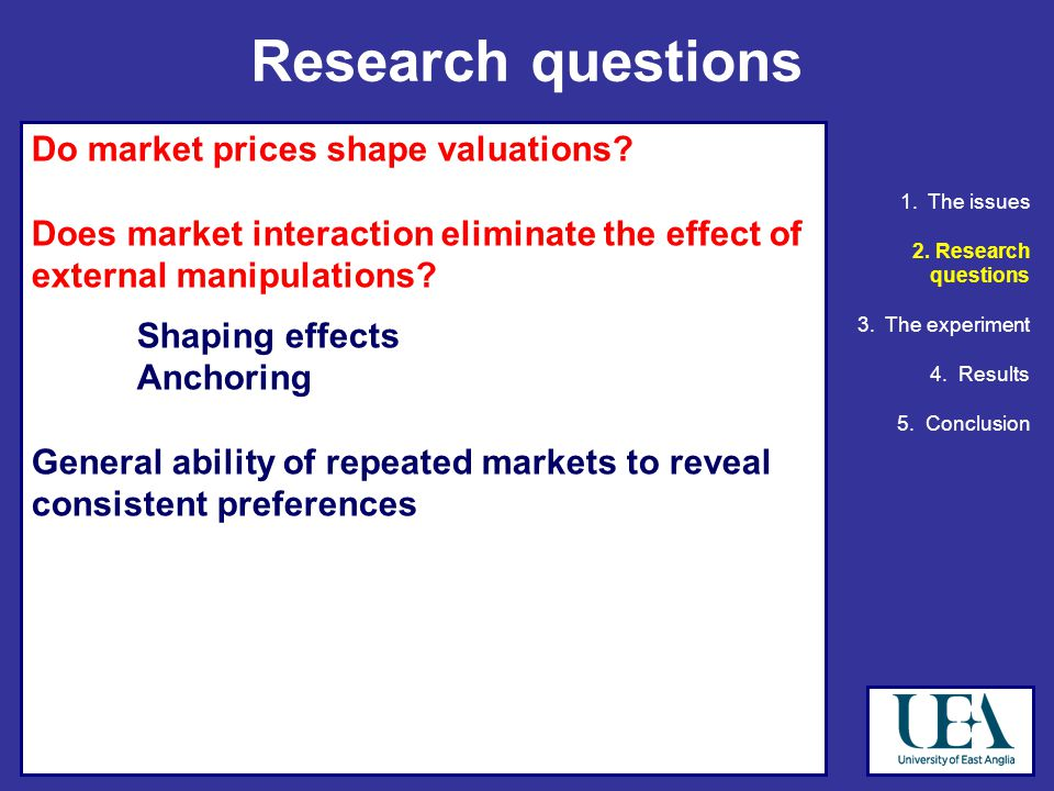 Do market prices shape valuations.