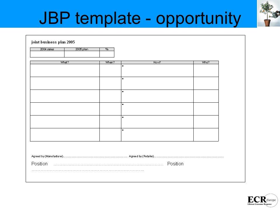 JBP template - opportunity