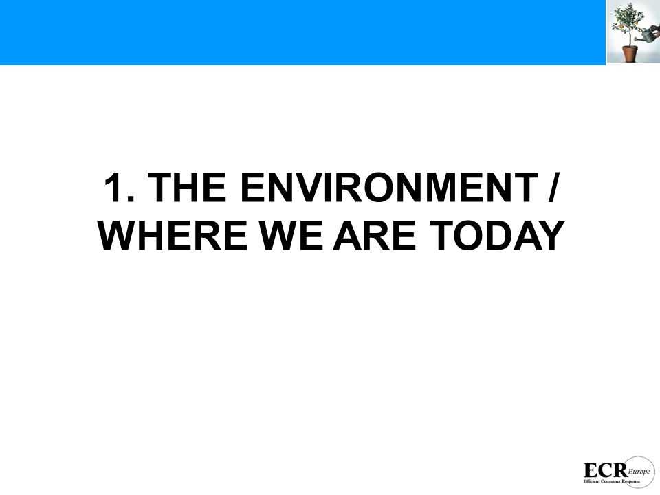1. THE ENVIRONMENT / WHERE WE ARE TODAY