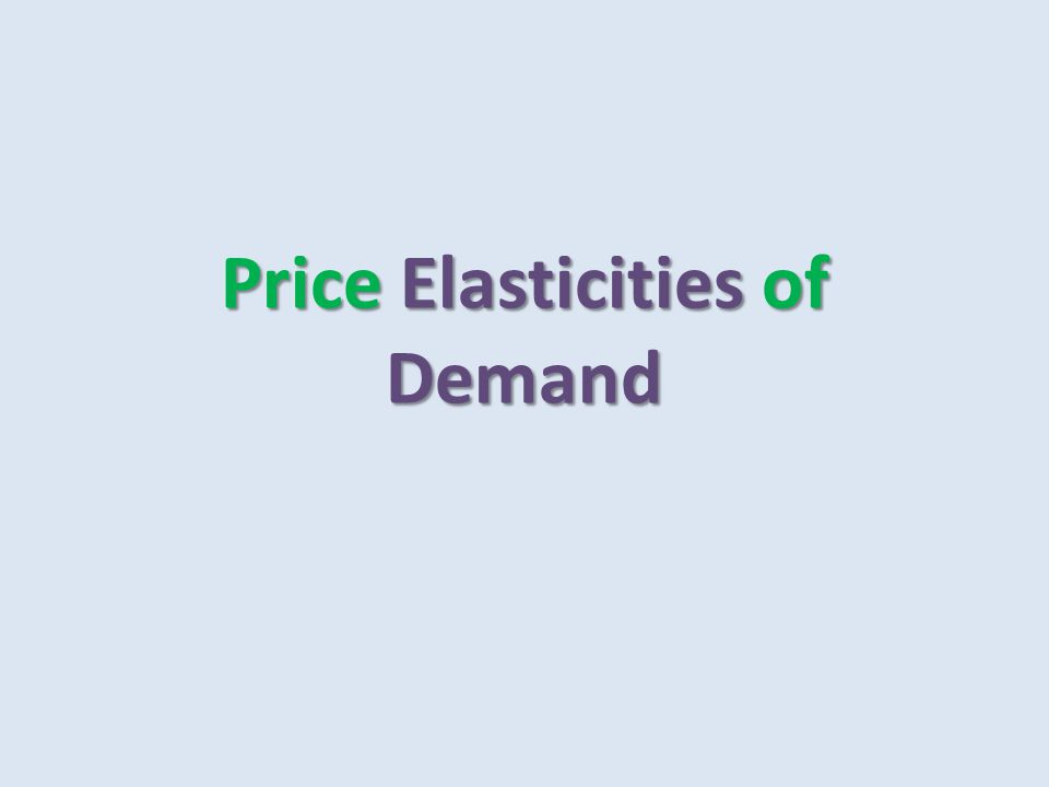 Definition: Price elasticity of demand is Price elasticity of demand is To determine price elasticity of demand: compare the % change in the quantity demanded with the percentage change in price To determine price elasticity of demand: compare the % change in the quantity demanded with the percentage change in price