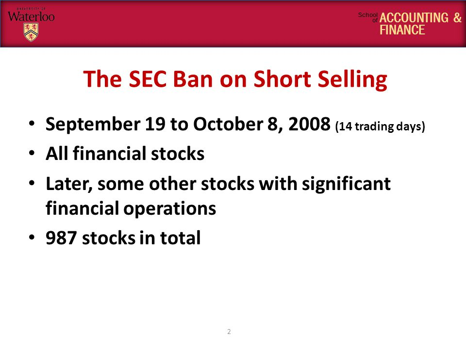 ACCOUNTING & FINANCE School of The SEC Concerns We intend these and similar actions to provide powerful disincentives to those who might otherwise engage in illegal market manipulation through the dissemination of false rumors and thereby over time to diminish the effect of these activities on our markets.