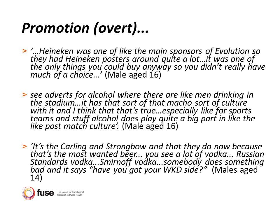 Promotion (overt)...