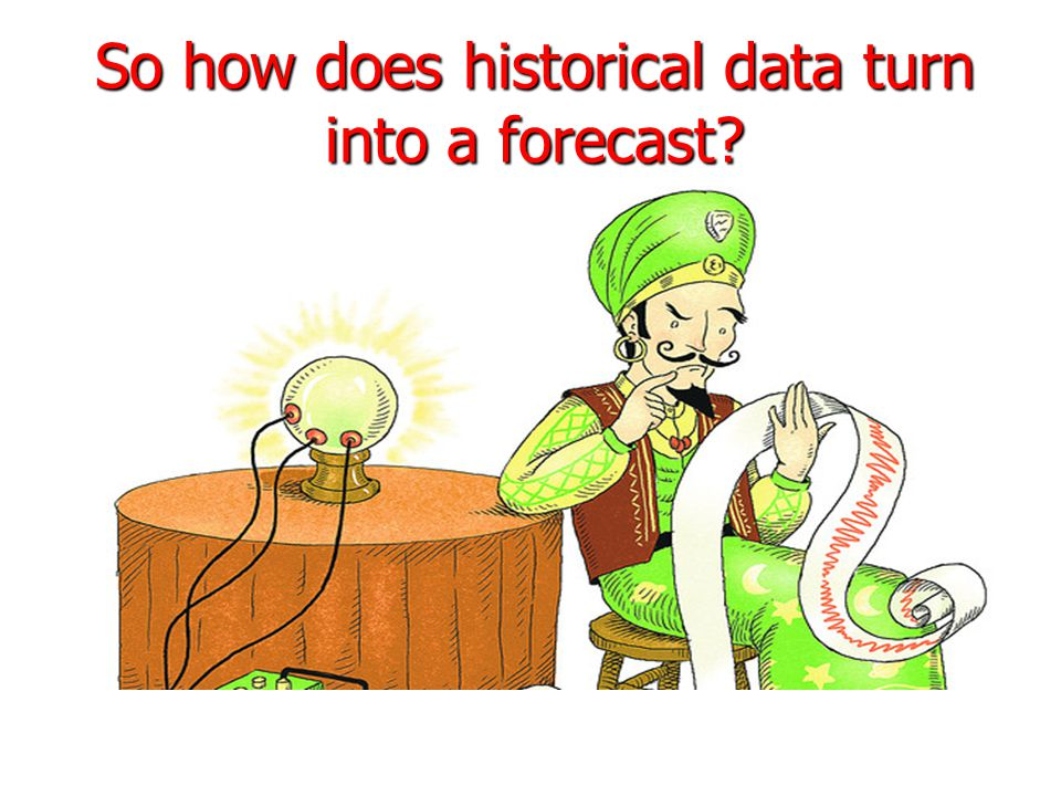 So how does historical data turn into a forecast?