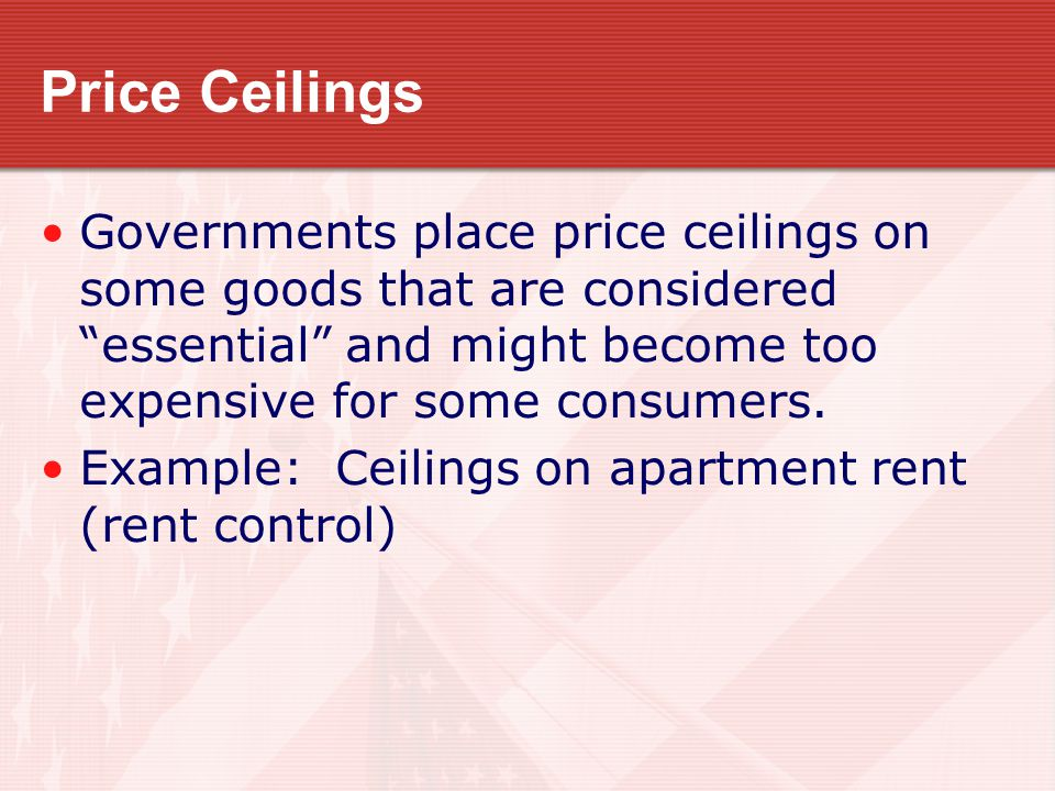 Price Ceilings Rent control reduces the quantity and quality of housing, so it helps some households and hurts others, including many poor households.
