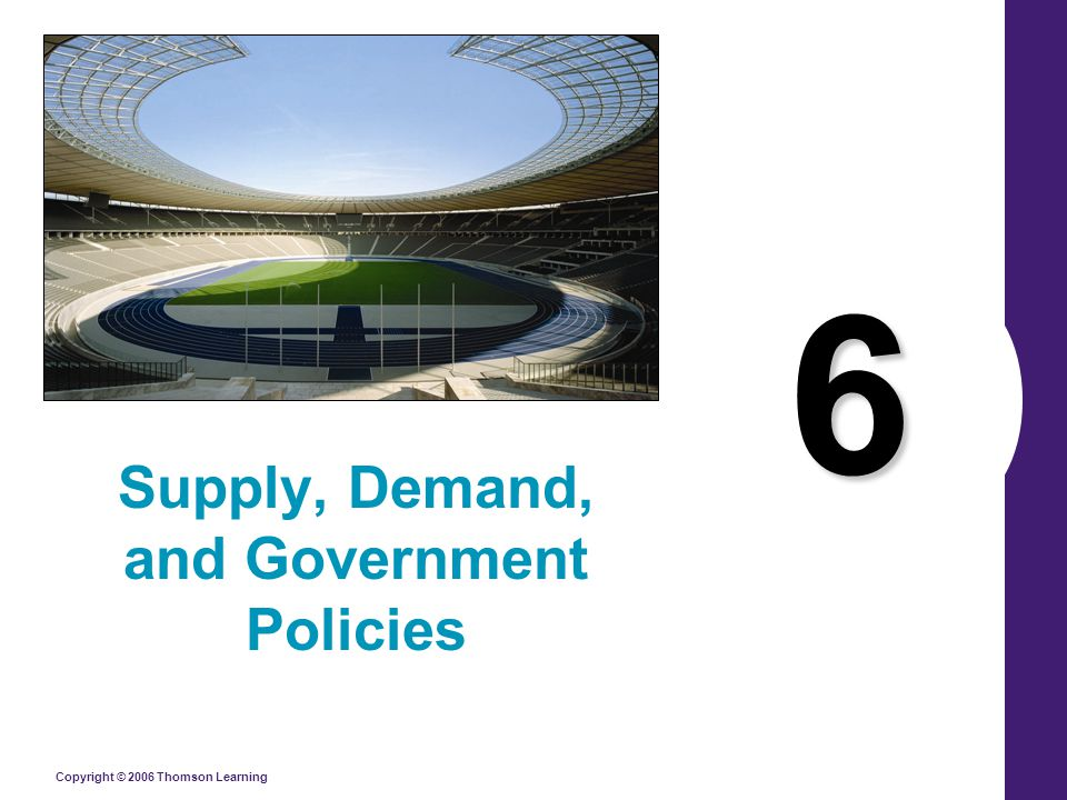 Copyright © 2006 Thomson Learning 6 Supply, Demand, and Government Policies
