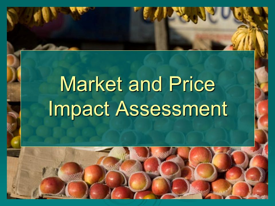 Market and Price Impact Assessment