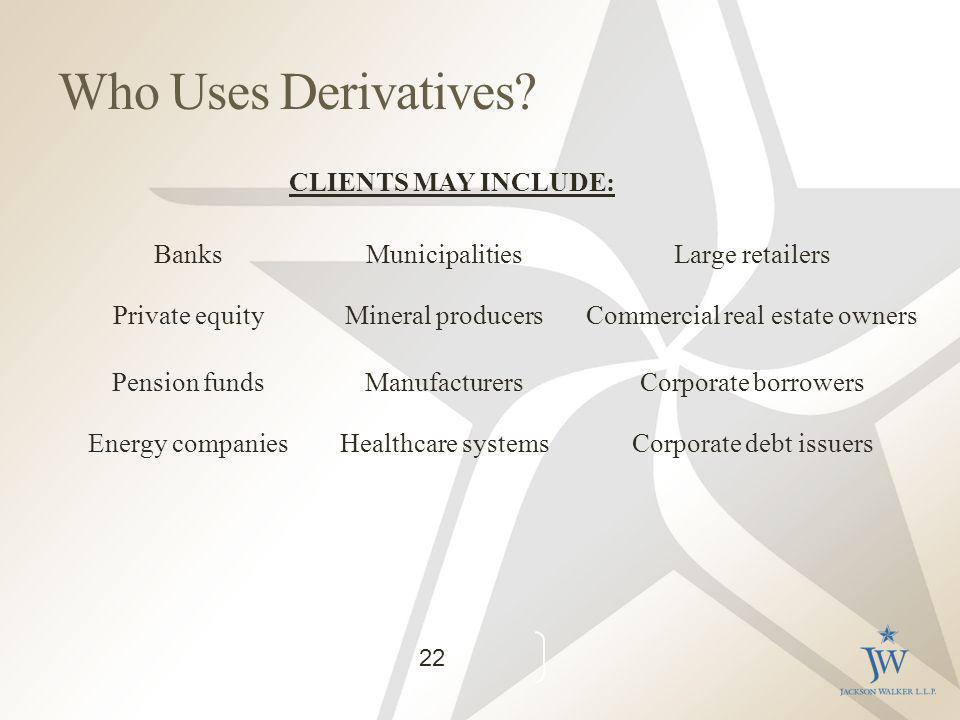 Who Uses Derivatives.