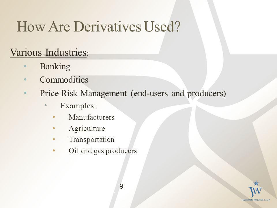 How Are Derivatives Used.
