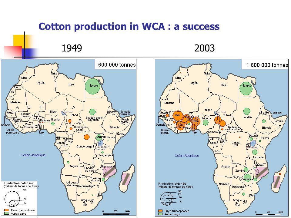 4 Cotton production in WCA : a success 19492003