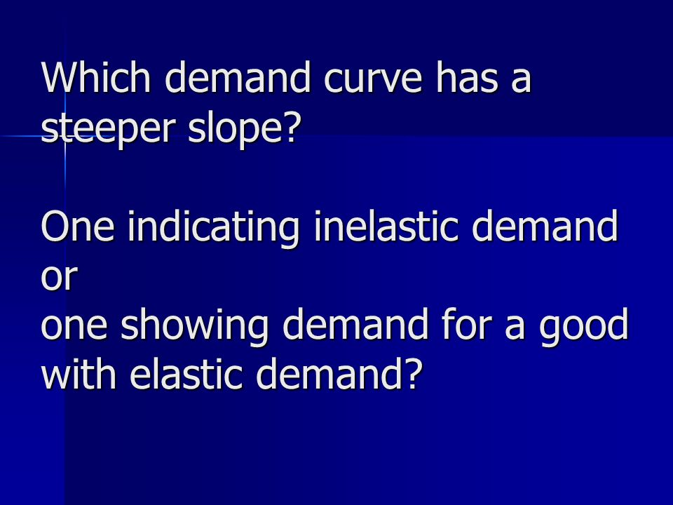 Which demand curve has a steeper slope.