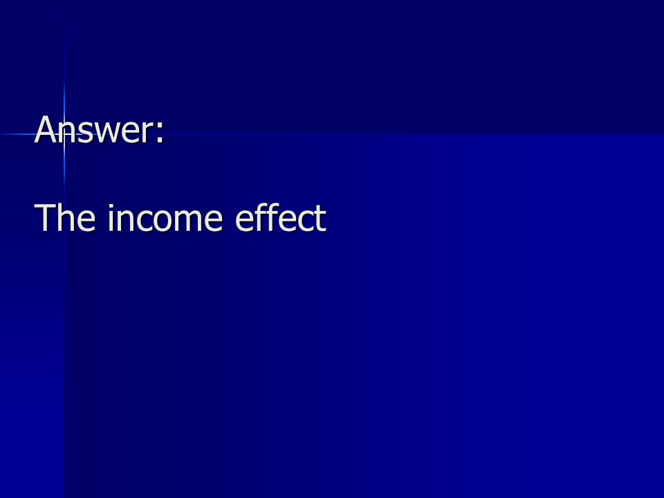 Answer: The income effect